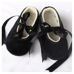 My First Pair of Black Dance Shoes